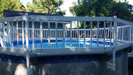 """Vinyl Works Canada Premium Above Ground Pool Fence 24"""" Tall Resin: Vinyl Works Canada Removable Fence Section kit for 24"""" system"""