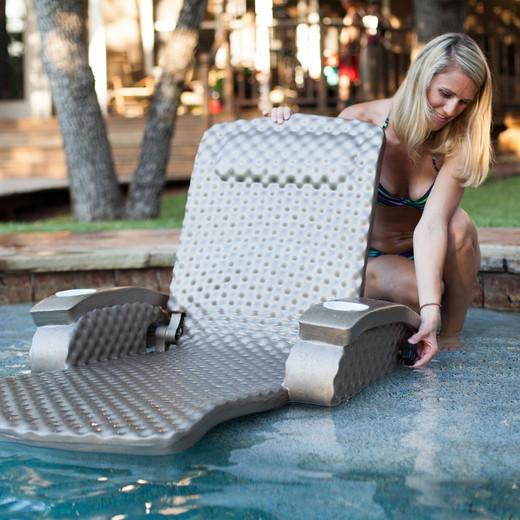 Texas Rec Super Soft Adjustable Swimming Pool Recliner