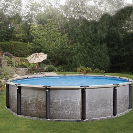"""Panache Above Ground Pool 54"""" Tall Aluminum Wall with Resin Frame"""