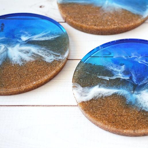 DIY Resin Beach Coasters