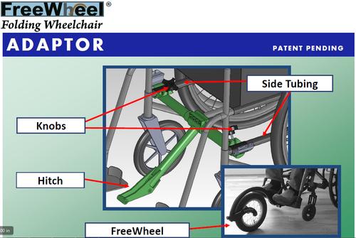 FreeWheel Adaptor for Folding Wheelchairs
