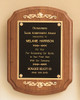 American Walnut Recognition Award Plaque with decorative accents, Laser engraved