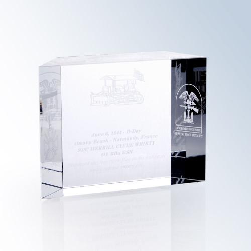 Crystal Block Award, 2 sizes available, free engraving