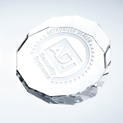 DUODECAGON Crystal Paperweight