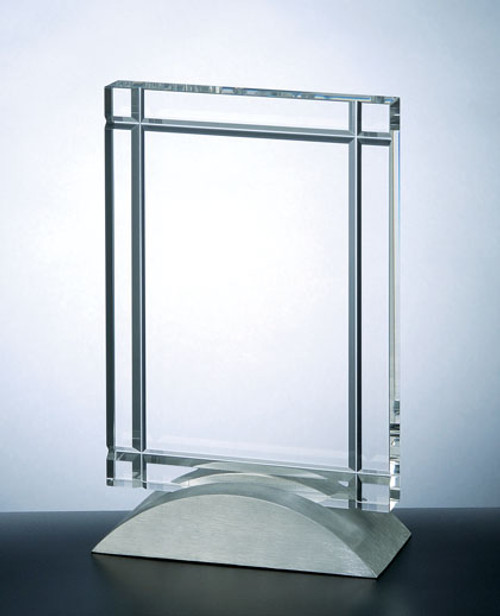 CLEAR DECO CRYSTAL AWARD, Personalized Crystal