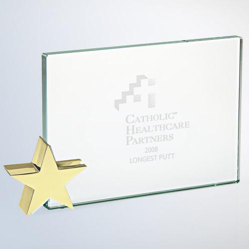 ACHIEVEMENT AWARD W/ GOLD BRASS STAR, 3 sizes available