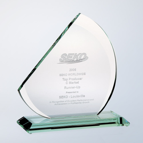 REACH FOR THE SKY JADE GLASS AWARD, 3 sizes available