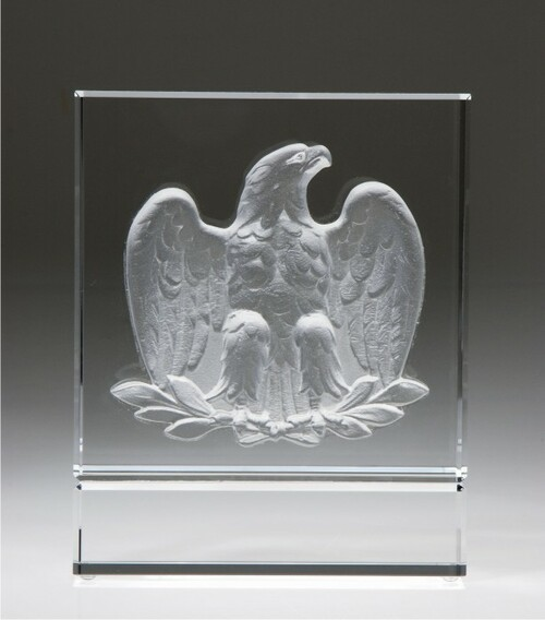 MAJESTIC EAGLE CRYSTAL AWARD.  Eagle: pate de verre