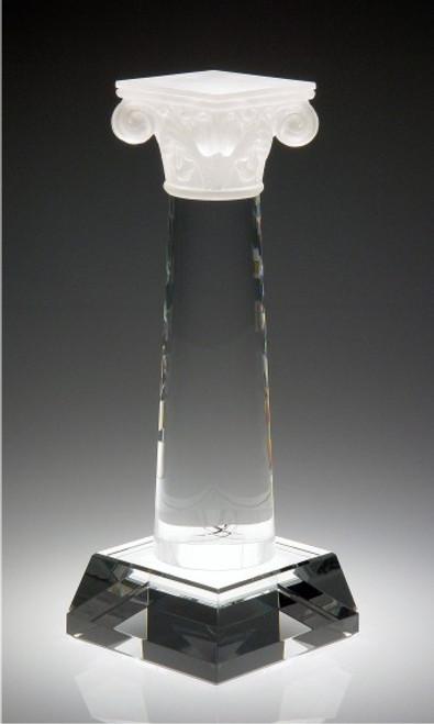 COLUMN OF SUCCESS CRYSTAL AWARD.  Top piece: Pate De Verre