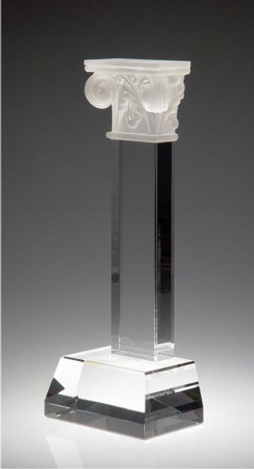 PILLAR OF SUCCESS CRYSTAL AWARD.  Top piece: Pate De Verre