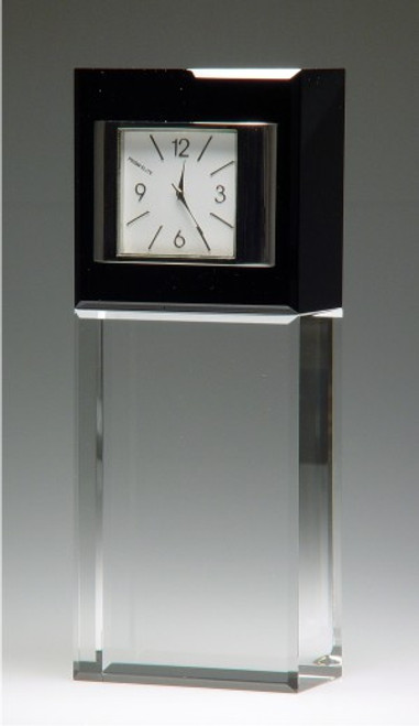 BEST WISHES CRYSTAL CLOCK