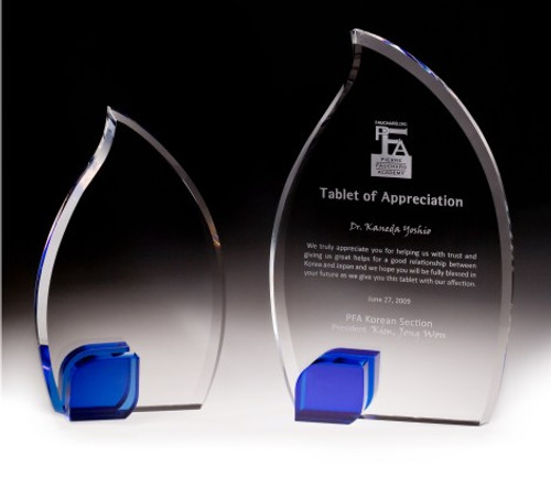 Blue Flame Crystal Award