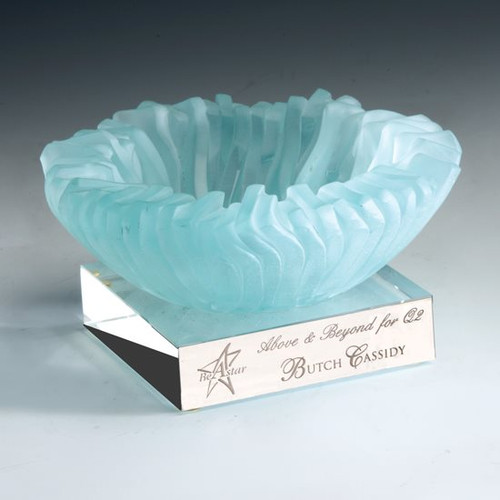 Ice Bowl Award recycled glass