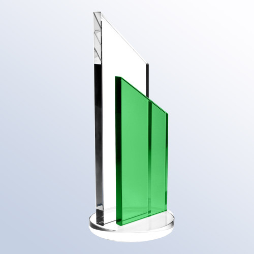 Free engraving on Green crystal