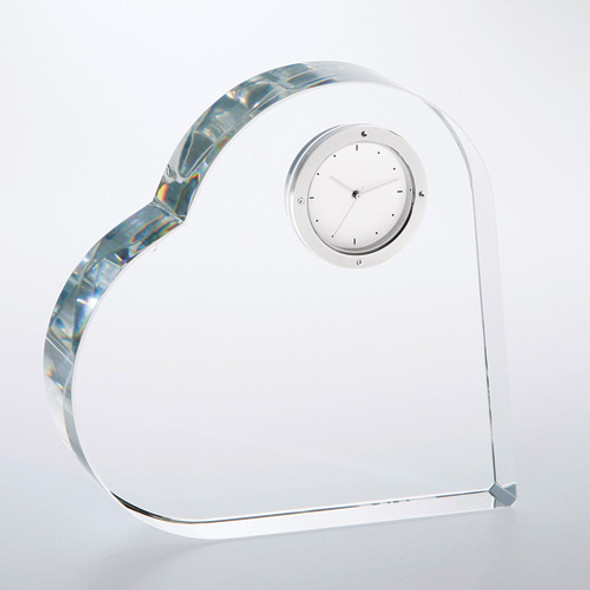 Heart Keepsake Crystal Clock