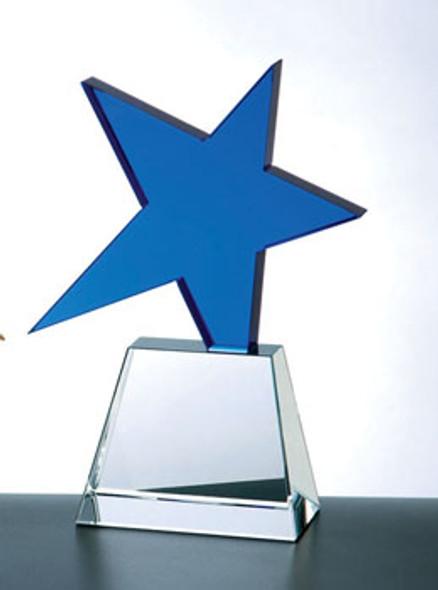 METEOR CRYSTAL AWARD (BLUE)