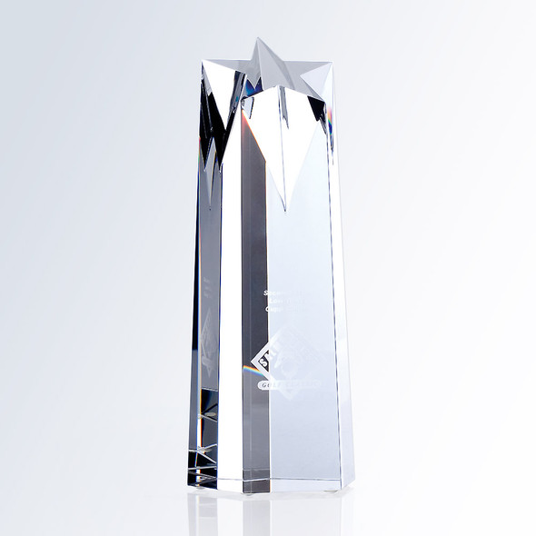 CRYSTAL STAR OBELISK AWARD,  3 sizes available