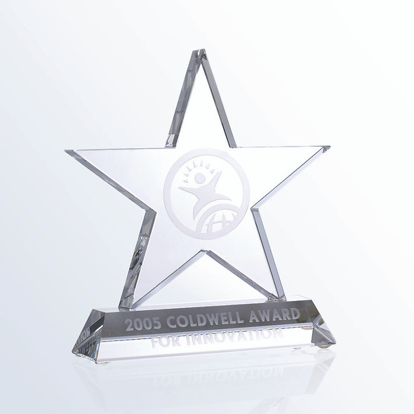 MOTIVATION STAR CRYSTAL AWARD, 3 sizes available