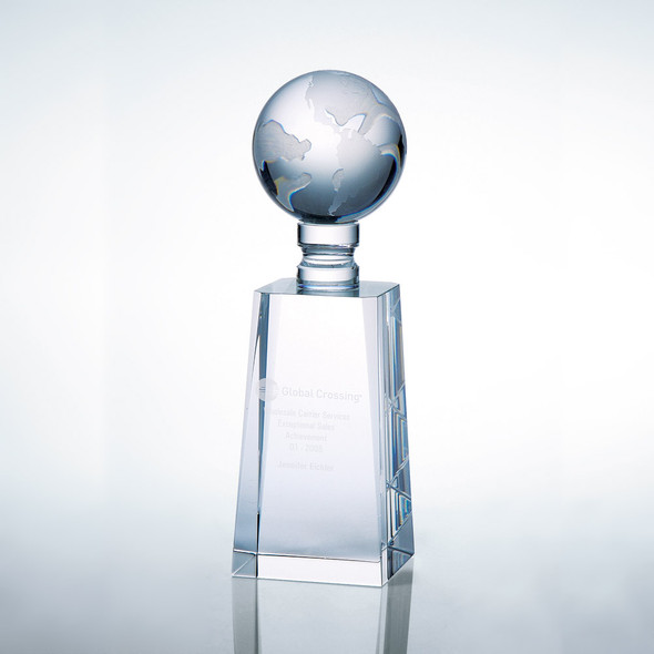 WORLD GLOBE AWARD, Crystal Award, 3 sizes available