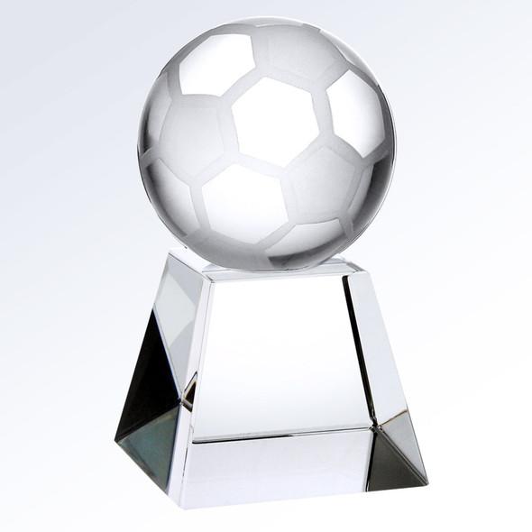 Championship Crystal  Soccer Trophy