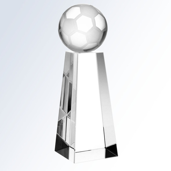 CRYSTAL SOCCER BALL W/TALL BASE