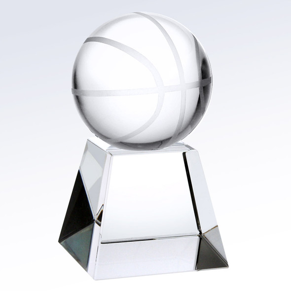 Championship Crystal Basketball Trophy