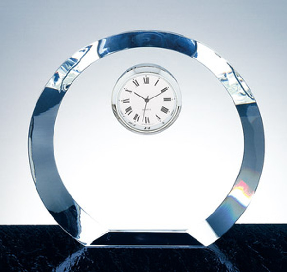 OPTICAL CRYSTAL CIRCLE CLOCK