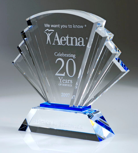 PROSPERITY CRYSTAL AWARD, engraved crystal