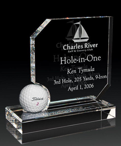 OPTICAL CRYSTAL HOLE IN ONE AWARD