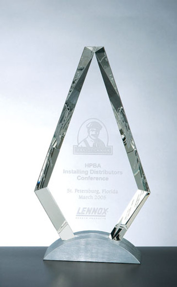 ROYAL DIAMOND CRYSTAL AWARDS, Engraved Crystal
