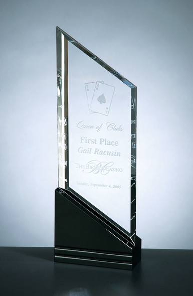 RISING SAIL CRYSTAL AWARD, Personalized Crystal