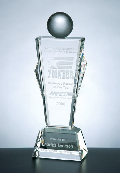 CONQUEROR CRYSTAL AWARD, Etched Glass Process