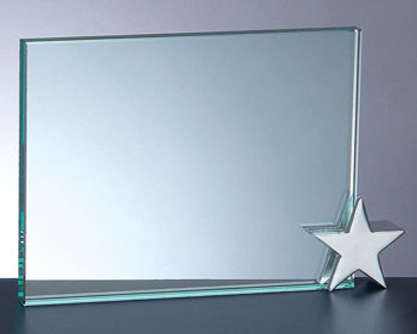 ACHIEVEMENT AWARD W/CHROME STAR HOLDER