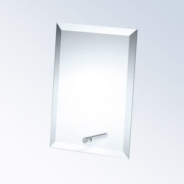 BEVELED VERTICAL RECTANGLE W/ ALUMINUM POLE, 3 sizes available