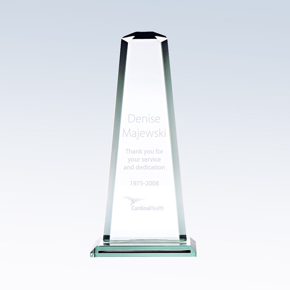 PINNACLE JADE GLASS AWARD, 3 sizes available