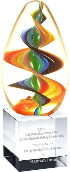 Free engraving on Crystal cube base