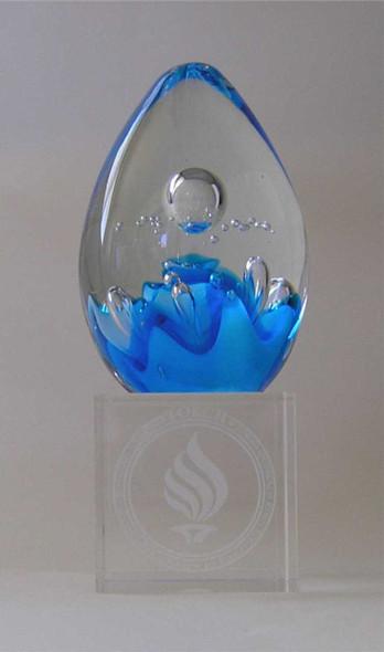 Free engraving on crystal base