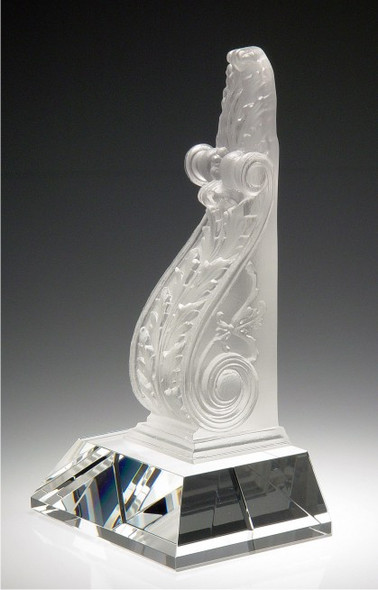 BOOKEND CRYSTAL AWARD.  Top piece: pate de verre
