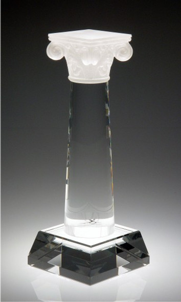 COLUMN OF SUCCESS CRYSTAL AWARD.  Top piece: Pate De Verre