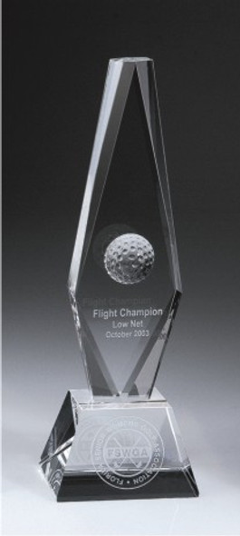 Golf Ball Diamond Trophy