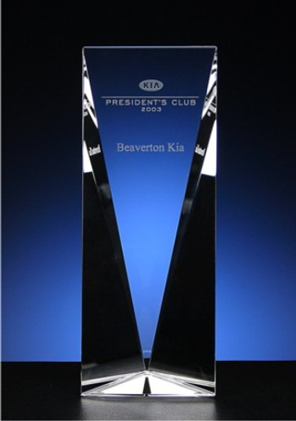 Tri-Panel Crystal Award