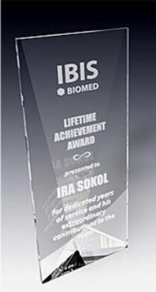 Tri-Panel Crystal Award