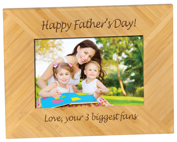 "Frame is 2 1/2"" larger than photo opening size. Free engraving in one location"