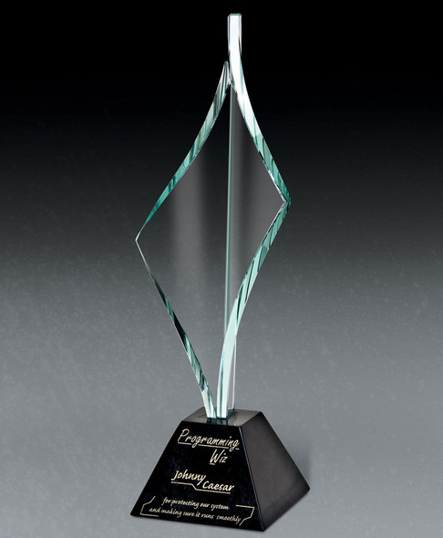 EXCLAIM II Marble Award with Glass