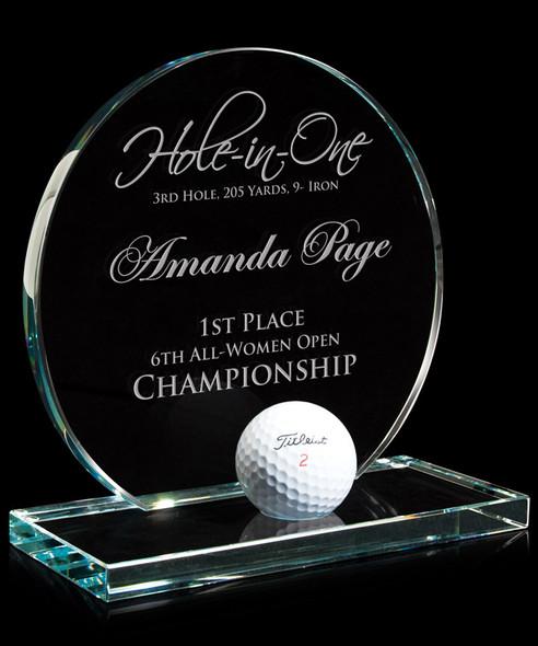 Hole In One Jade Glass Award Circular
