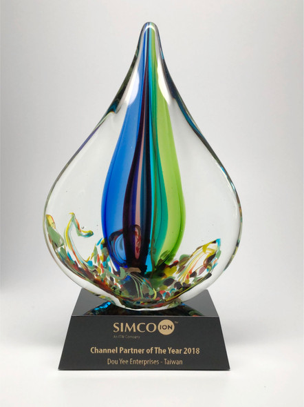 Coral Art Glass Award