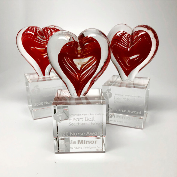 Healthcare Heart Art Glass Award