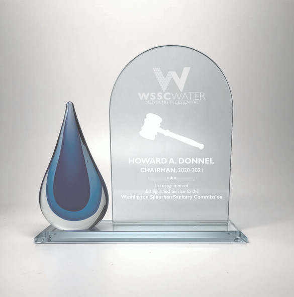 Free engraving on Arch glass