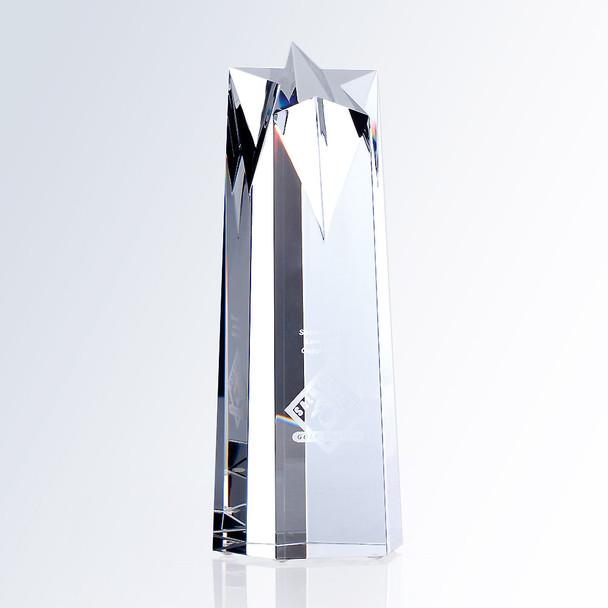 CRYSTAL STAR OBELISK AWARD,  3 sizes available