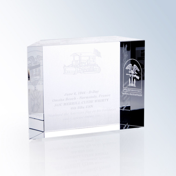 Crystal Block Award, 2 sizes available, free engraving
